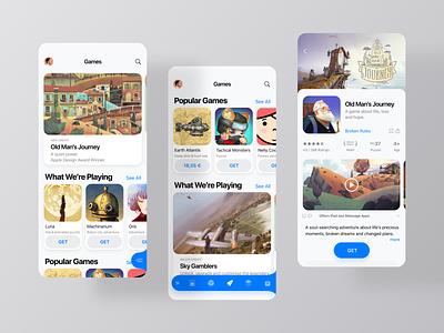App Store - Rethought ios app apple game ui games product design dribbble ux ui uidesign minimal app design app store