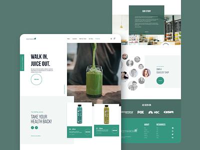 Squeezeit Landingpage ecommerce juice franchise dribbble product design minimal uidesign ui ux website webdesign