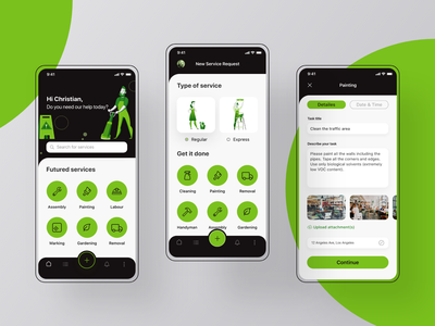Cleaning & Maintenance Services App user interface ux dribbble best shot dribbble ui product design ios app service app maintenance cleaning service