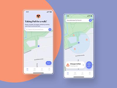 Doggomap App - Ux/Ui map scenario pet app dog app dribbble uidesign design app app design product design ui ux