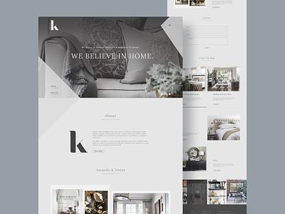 StudioK Web Design 2020 website minimalism awards interior design design web dribbble webdesign uidesign minimal ux ui