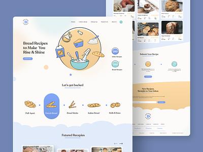 Bake Lovers • Web Design flatter skeuomorphic xd dribbble best shot uidesign ux ui bread recipes bakery bake website web design