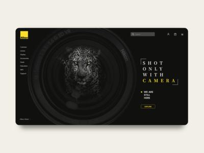 Nikon Concept Landing Page