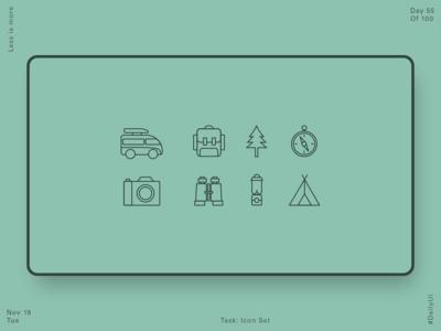 055 Camping Icon Set