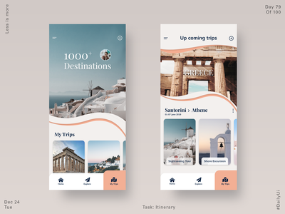 079 Itinerary trip planner dailyui uiux ux ui product design travel app travel itinerary