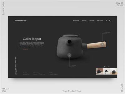 095 Ecommerce Webdesign - Product Tour ecommerce design ecommerce minimalism webdesign uidesign minimal product design dailyui ux ui