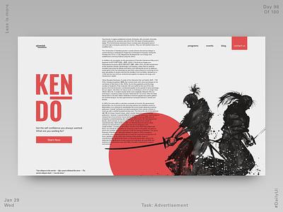 098 Fight Club Webdesign - Advertisement website design website fight club fight japan kendo uidesign minimal dailyui ui