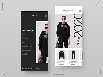 099 Fashion App - Categories ecommerce app uidesign app product design dailyui ux ui app design 2020 fashion app fashion categories