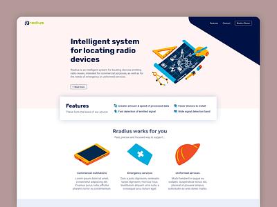 Rradius website 1 technology concept concept design uidesign uiux illustration design web design ui webdesign website