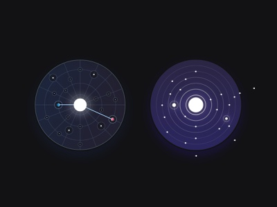 Space exploration rocket navigation stars galaxy icons theme space