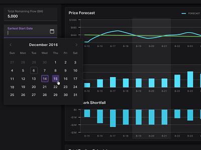 Date picker date dark theme stats datepicker calendar ui dashboard