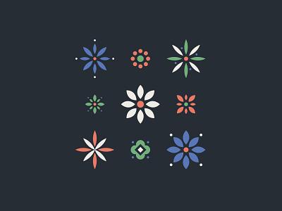Flowers minimalist plants icons flowers