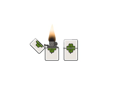The floor's on fire, see? clover lighter luckycharm last crusade indiana jones spielberg 80s movies illustrations icon set icons