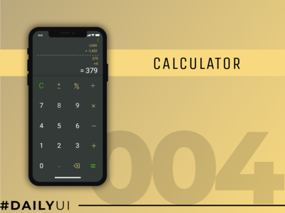 Daily UI #004 : Calculator