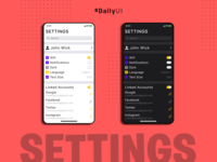 Daily UI #007 : Settings