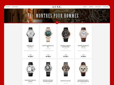 Watches website concept creationy ui ux lux ecommerce design interface concept website site web watch