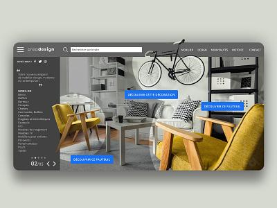 Ecommerce website concept furniture presentation graphic design interface ui ux creationy webdesign grey design site web concept website eshop ecommerce