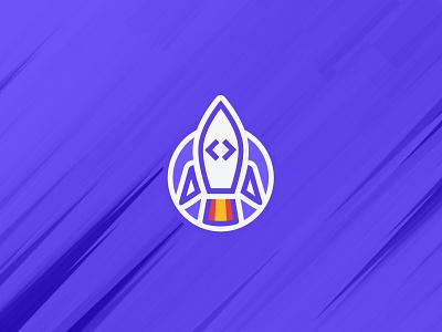 Formation Développeur Web identity illustrator graphic design icon design web formation creationy purple rocket fusée logo