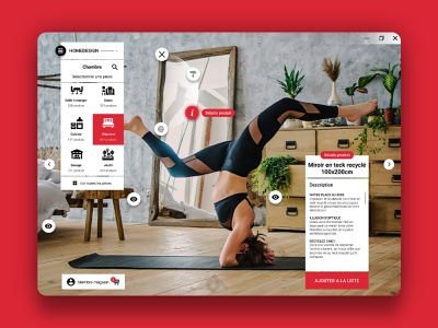Homedesign application concept eshop ecommerce ikea sport creationy ui ux interface windows software application red furniture home design home design