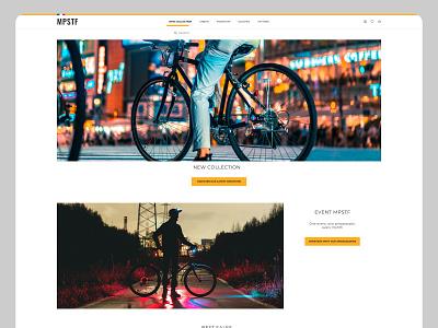 Bike Ecommerce website concept presentation homepage minimal clean webdesign yellow white ui ux bike site web website shop eshop ecommerce interface concept design creationy