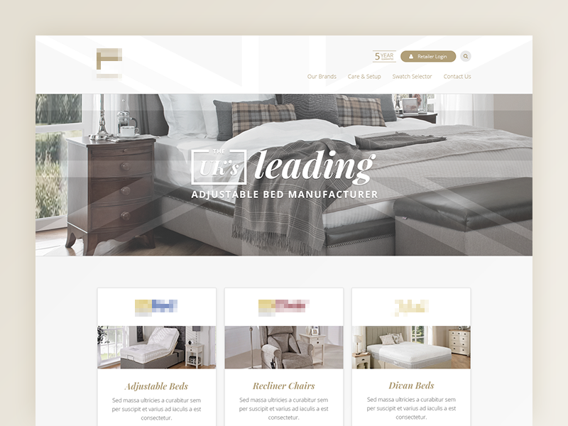 Landing Page bed front page landing page web design