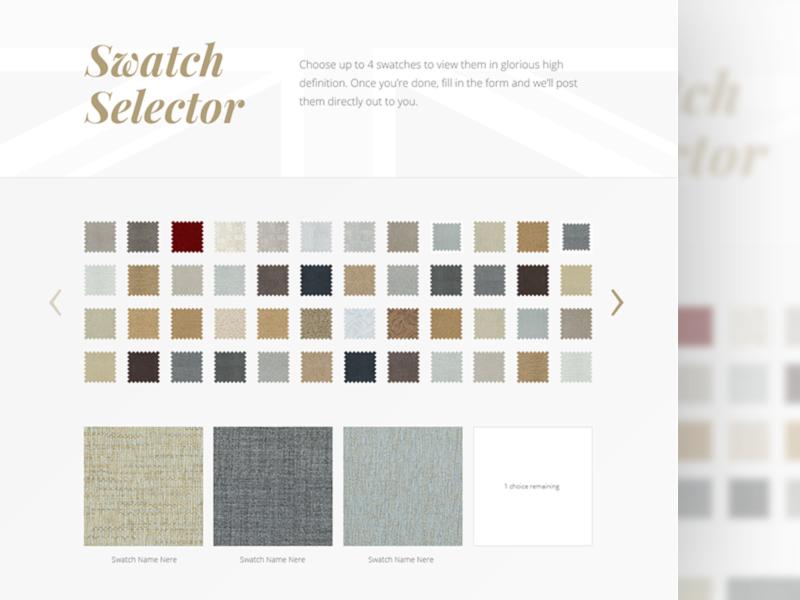 Swatch Selector ux web design