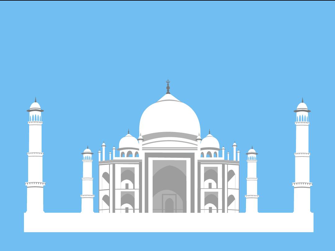 Taj Mahal web design illustraion