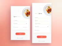 Recipes App - Concept login
