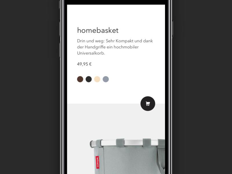 E-commerce 👜 Landingpage category landingpage mobile germany basket color picker purchase ui webdesign bags shopping