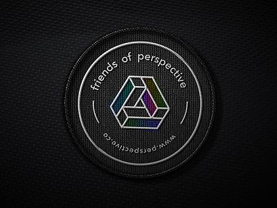 friends of perspective badge 🙌 logo emblem branding texture studio agency berlin sign multi color friends perspective badge