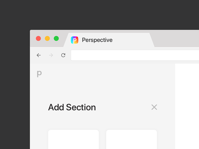 P Squircle App Icon berlin app sections mockup sketch browser colorful favicon perspective chrome