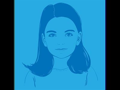 Портрет девочки девочка портрет вектор векторная графика иллюстрация