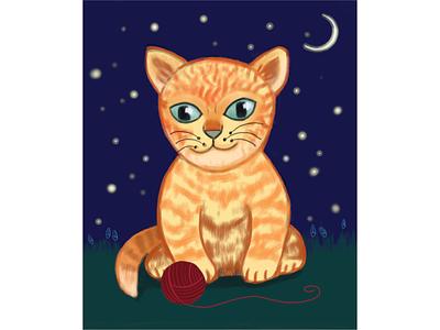 Кот ночь кот иллюстрация