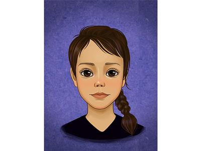 Портрет девочки девочка logo портрет иллюстрация