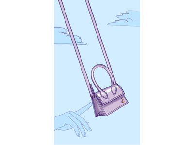 Сумочка мечты мода плоский сумочка сумка дизайн иллюстрация