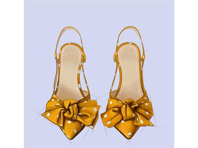 Пара туфелек скетч мода обувь туфли лето design иллюстрация