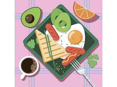 Завтрак яичница утро кофе стол еда завтрак