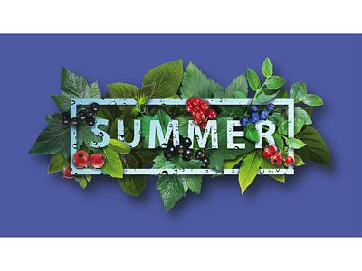 Лето голубика черника смородина ягоды листья коллаж лето