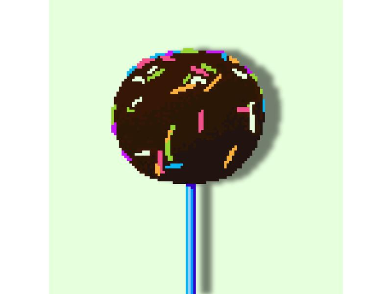 Cakepops вектор иллюстрация разноцветный маленький десерт шоколадный посыпка на палочке тортик конфета кейкпопс