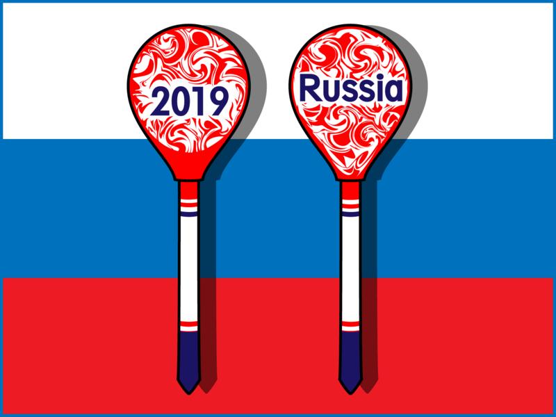 Сувенир из России вектор иллюстрация символ россия русский узор деревянная ложка сувенир