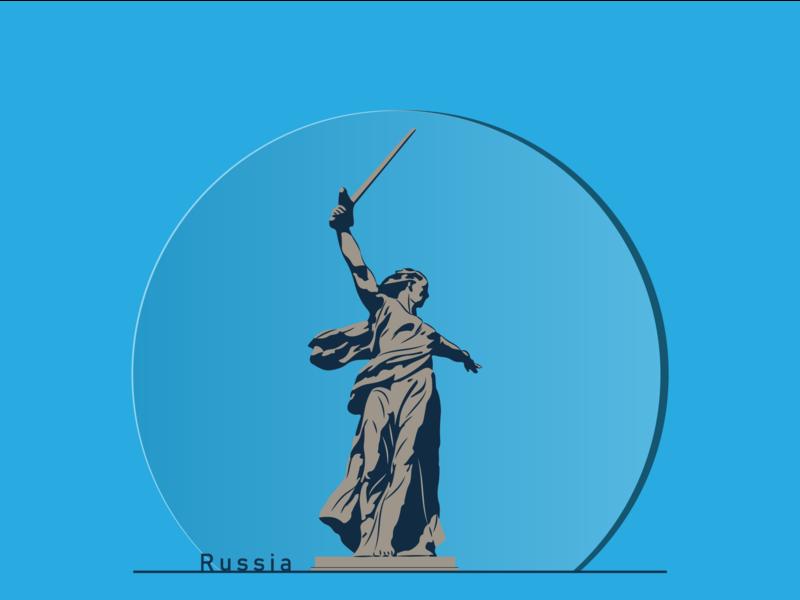"""""""Родина - Мать зовёт!"""" на Мамаевом кургане. иллюстрация вектор россия плоский дизайн монумент памятник"""