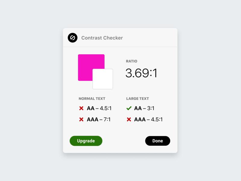 Updated Stark Contrast Checker UI color contrast contrast checker a11y accessibility accessible startup plugin logo ux ui web design branding product design getstarkco stark design