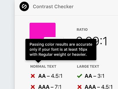 Tooltips for Contrast Checker sketch xd figma plugin stark color contrast contrast checker accessible accessible design a11y getstarkco accessibility logo ux branding product design ui web design design