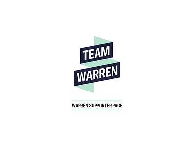 Warren Supporter Graphic graphic design graphic web design lg liberty green contrast accessibility concept campaign design icon illustration logo branding design warren