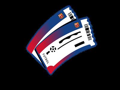 icon - Tickets digitalart barcelona futbol club vip tickets icon design icon set xave illustration