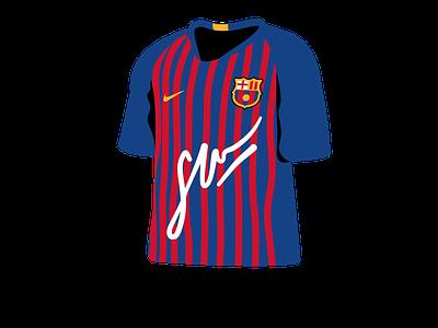 Barça t-shirt Icon design xave illustration inconography icon design icon set digital illustration barça