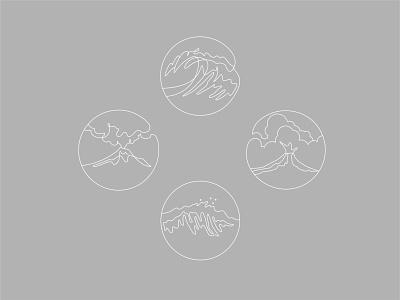 Linear Icon | Editorial white white ui illustration digital xave linear design icon set books editorial