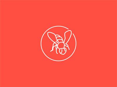 HoneyLoop® loop branding mark xave bee illustration icon set honeybee