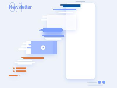 Newsletter's bloc design material ui construction flow bloc newsletter news