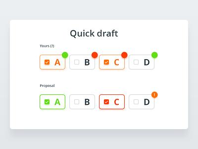 Answers to questions ergonomy false true check ui list form feedback test design system